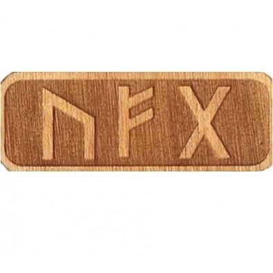 Amulet WSZELKIEJ POMYŚLNOŚCI (drewniany skrypt runiczny)