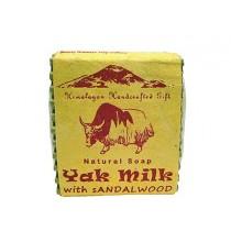 Mydło MLEKO JAKA i SANDAŁ - himalajskie, ręcznie robione (100g)