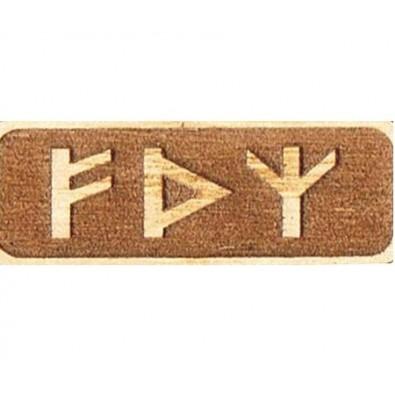 Amulet MOCY (drewniany skrypt runiczny)