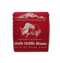 Mydło MLEKO JAKA i RÓŻA - himalajskie, ręcznie robione (100g)