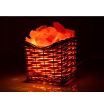 Lampka solna KOSZ WIKLINOWY (sól himalajska)