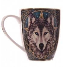 Kubek WILK - kolorowy nadruk, porcelana