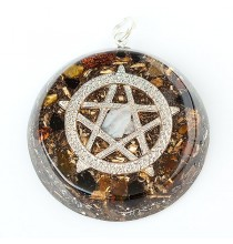 """PENTAGRAM"" Amulet orgonitowy (wisior)"
