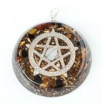"""PENTAGRAM"" Amulet orgonitowy (wisior)"