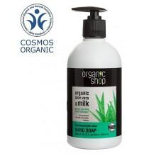 Mydło w płynie - ORGANICZNE, ALOES BARBADOSKI (500 ml) - zmiękczające