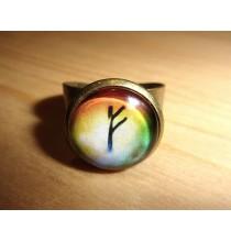 Pierścień RUNICZNY - FEHU, ręcznie robiony