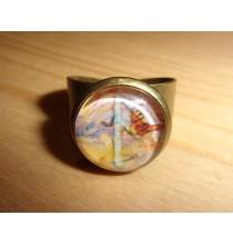 Pierścień RUNICZNY - ANSUZ, ręcznie robiony