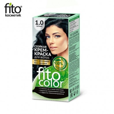 Farba do włosów NATURALNA - CZARNA Nr 1,0