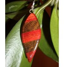 Kolczyki DRZEWO EGZOTYCZNE (ręcznie robione, Gwatemala)