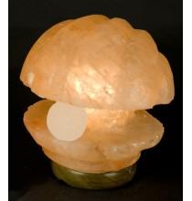 Lampka solna PERŁA W MUSZLI (sól himalajska)