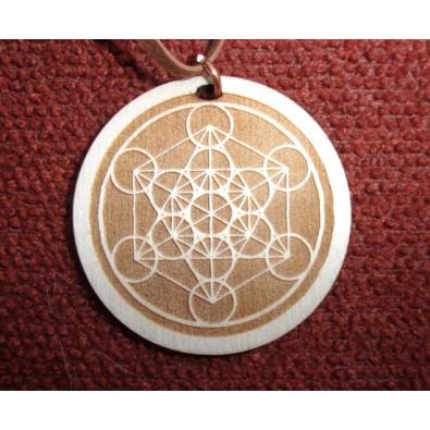 METATRON - potężny symbol Świętej Geometrii - wisior drewniany (4,5cm)