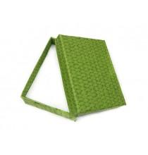 Pudełko ozdobne (zielone) 9/7 cm