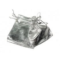 Woreczek satynowy SREBRNY - średni (12x9,5cm)