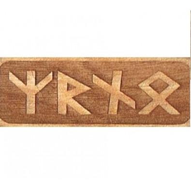 Amulet OCHRONNY SAMOCHODU (drewniany skrypt runiczny)