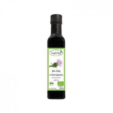 Olej z OSTROPESTU, zimnotłoczony - BIO (250 ml) - POLSKA!