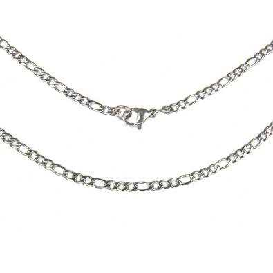 Łańcuszek ze stali chirurgicznej! (55cm) - NR1