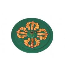 WADŻRA, ZIELONA podstawka pod kadzidła (nepalska, drewniana)