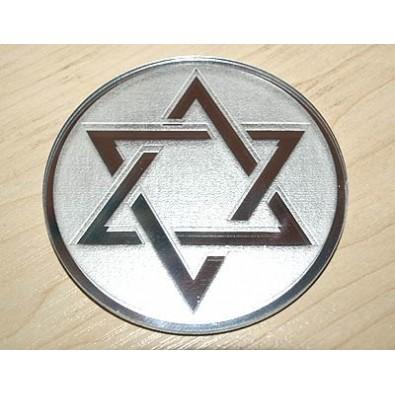 HEKSAGRAM - talizman/amulet ochronny (na lustrze)