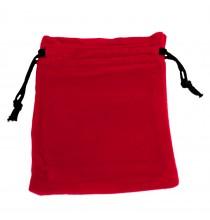 Woreczek ZAMSZOWY czerwony - ŚREDNI (12x10cm)