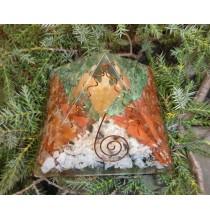 Piramida orgonitowa DUŻA - MIX kamieni (z aniołem)