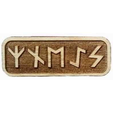 Amulet NA POPRAWĘ NASTROJU (drewniany skrypt runiczny)