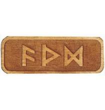 Amulet POMAGAJĄCY W NAUCE (drewniany skrypt runiczny)