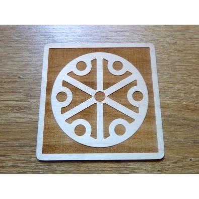 PERUN (opiekun ludzkości, obrońca) - Słowiański Symbol (kwadrat, 10 cm)