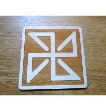 SOŁON (ochrona przed ciemnymi mocami) - Słowiański Symbol (kwadrat, 10 cm)