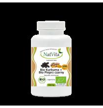 BIO KURKUMA + BIO PIEPRZ CZARNY - 550 mg (kapsułki 100 szt)