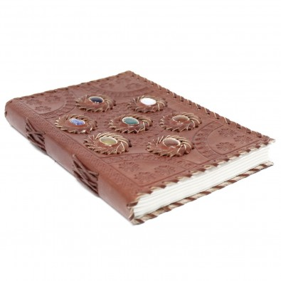 Skórzany Notatnik 7 CZAKR - DUŻY (15x23cm)