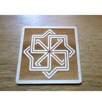 MOŁWINIEC (silna ochrona) - Słowiański Symbol (kwadrat, 10 cm)