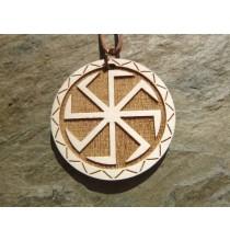 SWAROŻYC - słowiański symbol ochronny - wisior drewniany (4,5cm)