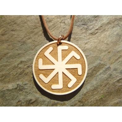 KRZYŻ ŁADY (harmonia i szczęście w Rodzie) - wisior drewniany (3,5cm)