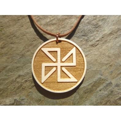 SOŁON (ochrona przed ciemnymi mocami) - wisior drewniany (3,5cm)