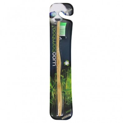 Szczoteczka do zębów WOOBAMBOO - bambusowa (medium)