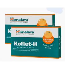 KOFLET-H, pastylki do ssania na gardło (pomarańczowe) - HIMALAYA (12 szt)