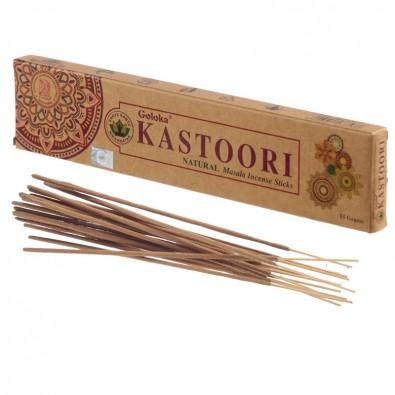 Kadzidła KASTOORI (Piżmo) - klasyczne kadzidła indyjskie, seria GOLOKA ORGANICA