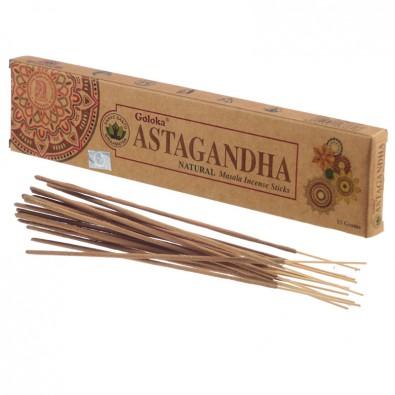 Kadzidła ASTAGANDHA - klasyczne kadzidła indyjskie, seria GOLOKA ORGANICA