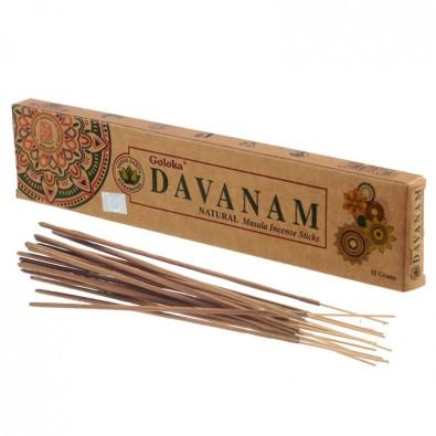 Kadzidła DAVANAM (Artemisia) - klasyczne kadzidła indyjskie, seria GOLOKA ORGANICA