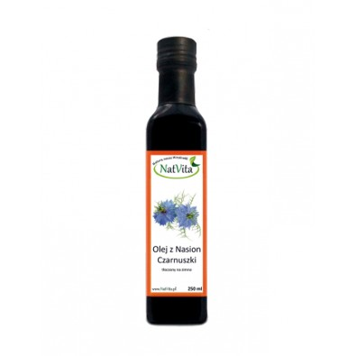 Olej z CZARNUSZKI, zimnotłoczony (250 ml)