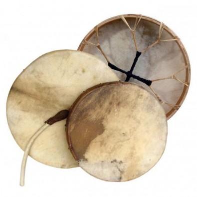 BĘBEN Szamański + PAŁKA - SKÓRA NATURALNA (40 cm), piękny, basowy dźwięk!