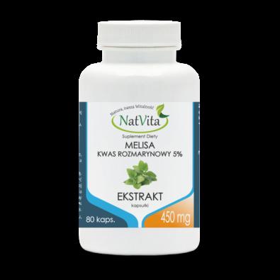 MELISA - ekstrakt 450 mg (kaps.80 szt) - 5% kwasu rozmarynowego!