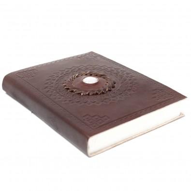 Skórzany Notatnik KAMIEŃ KSIĘŻYCOWY - ŚREDNI (13x18cm)