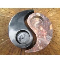 Świecznik YIN-YANG - KAMIEŃ NATURALNY (dwuczęściowy)