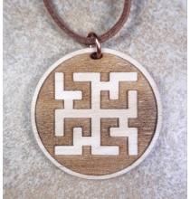 DUCHOBOR (amulet tylko dla osób o czystym sercu) - wisior drewniany (3,5cm)
