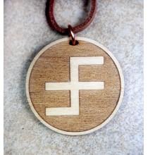 SŁAWIEC (zdrowie i ochrona kobiet) - wisior drewniany (3,5cm)