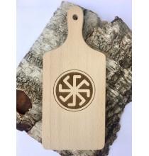 DESKA Z GRAWEREM - Krzyż Łady (drewno bukowe)