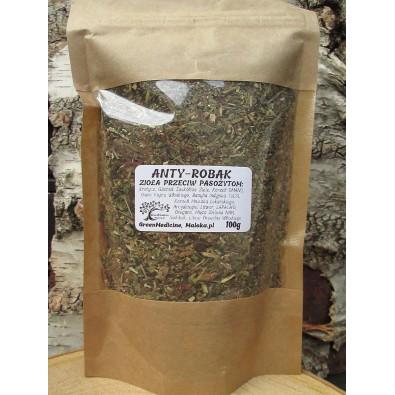 ANTY-ROBAK - Herbatka z 12 Ziół, przeciw pasożytom, grzybom (100g) - WYSOKA JAKOŚĆ i MOC