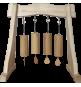 Statyw / Stojak do dzwonków Koshi lub Gongów do 40cm (drewniany)