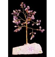 AMETYSTOWE Drzewo Życia - MAŁE (naturalne kamienie i miedź)
